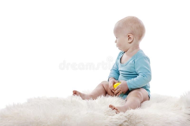 Baby boy sitting royalty free stock photos