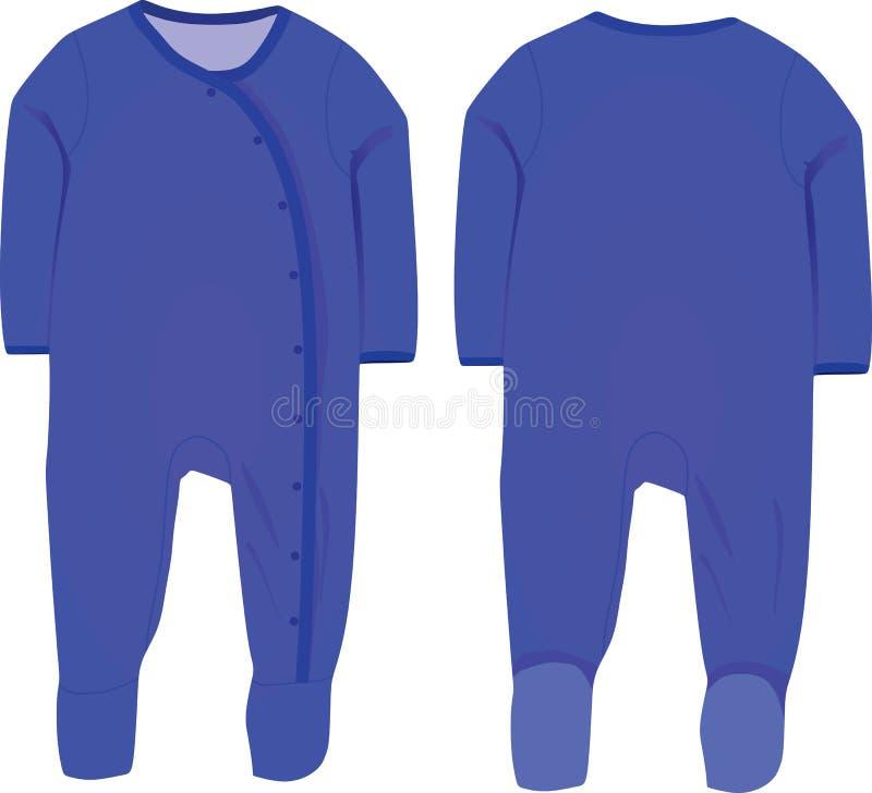 Baby boy sleep suit. Vector stock illustration