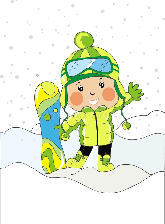 Download Baby Boy With Snowboard Royalty Free Stock Photography - Image: 22798707