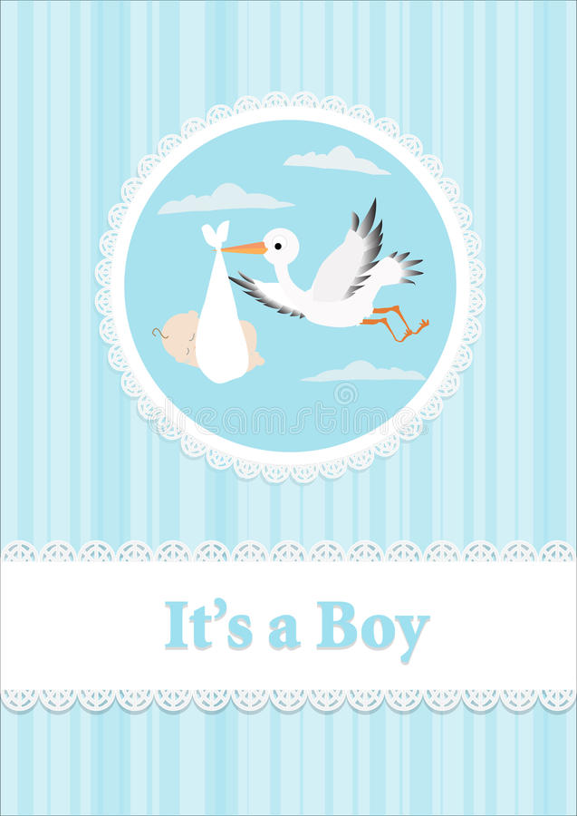 Download Baby Boy and stork stock vector. Illustration of cover - 27698636