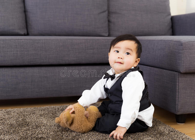 Baby boy in suit stock images