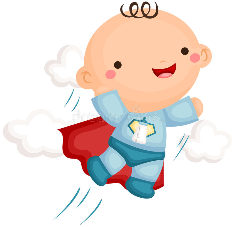 Baby Boy Superhero Costume royalty free illustration
