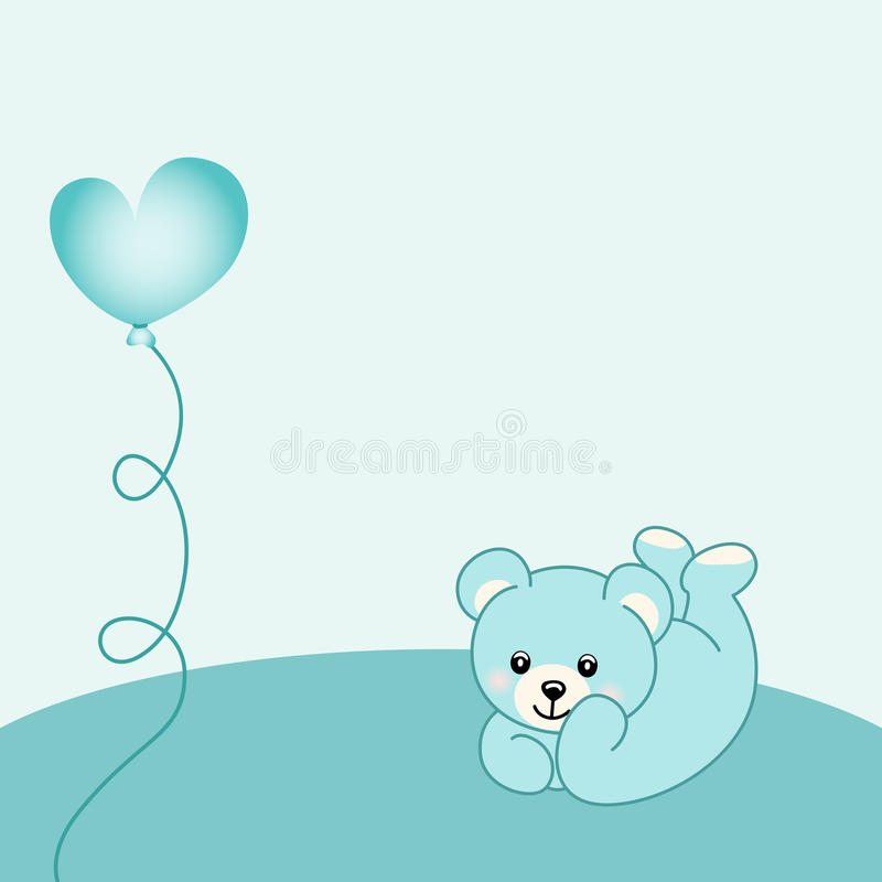 Baby boy teddy bear background. Scalable vectorial image representing a baby boy background royalty free illustration