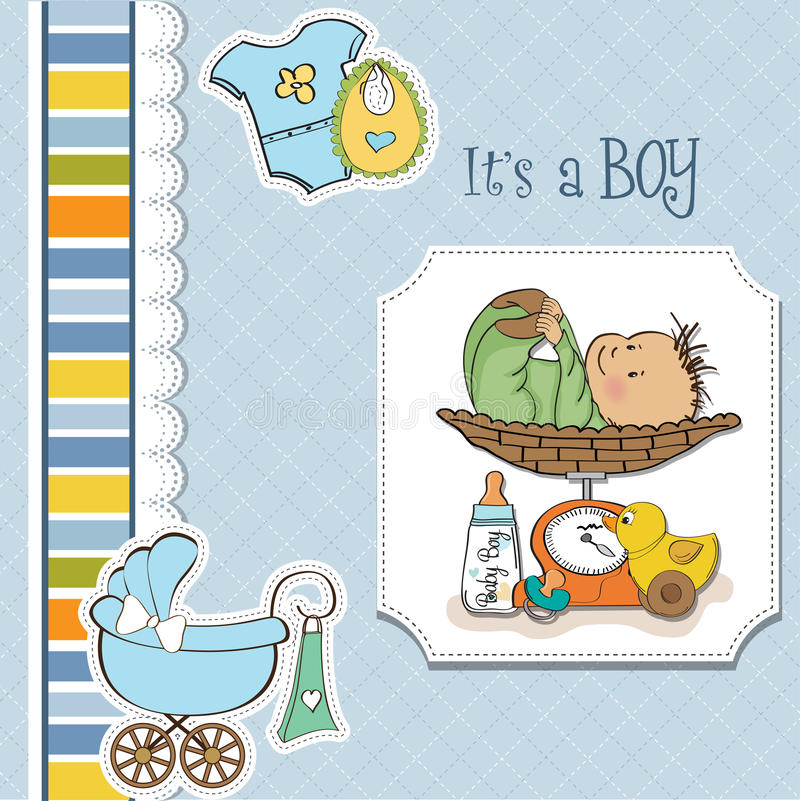 Download Baby Boy Weighed On The Scale Stock Illustration - Illustration: 24832415