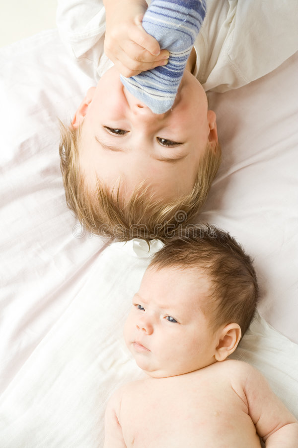 baby brothers στοκ φωτογραφία με δικαίωμα ελεύθερης χρήσης