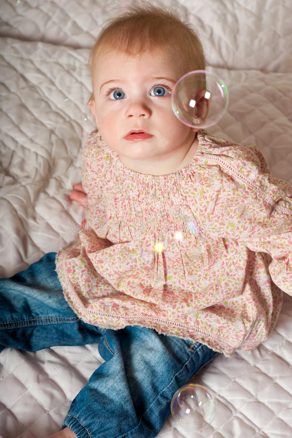 Baby with bubbles