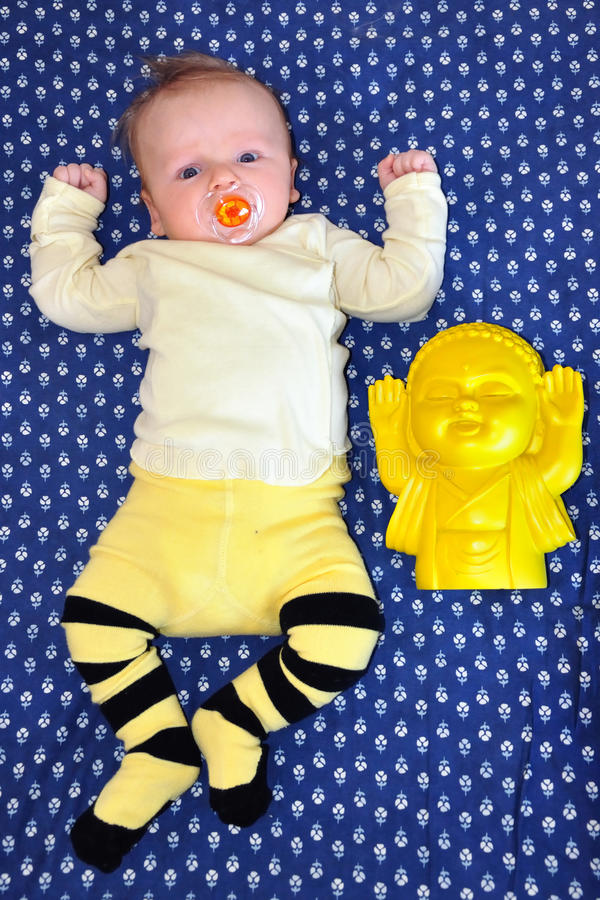 Download Baby and Buddha stock photo. Image of infant, pray, baby - 28248210