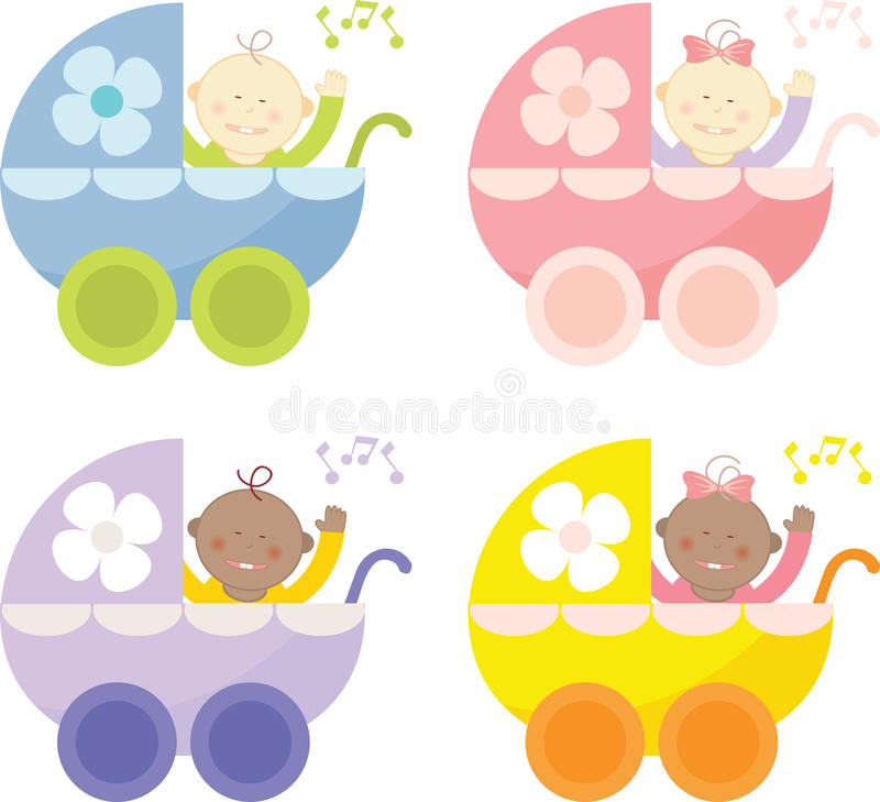 Download Baby Buggy stock vector. Illustration of baby, sister - 10108517