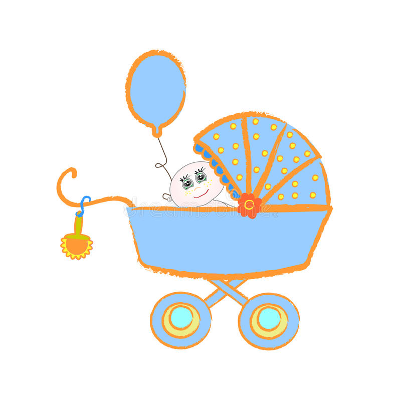 Download Baby Buggy. Vector Illustration On White Backgroun Stock Vector - Illustration: 23902456