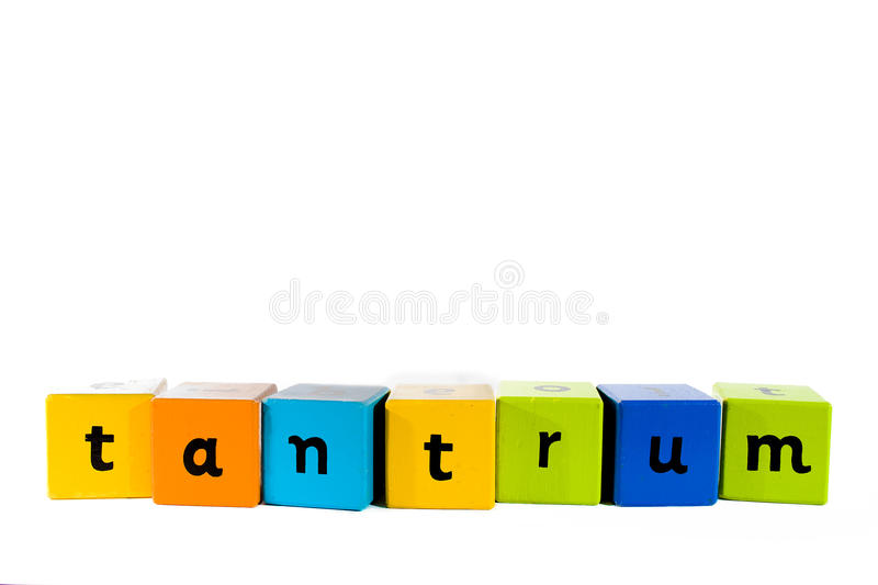 Download Baby Building Blocks Tantrum Stock Photo - Image of white, colours: 12703058