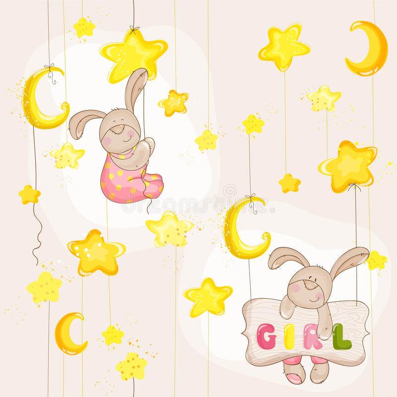 Baby Bunny Seamless Pattern lizenzfreie abbildung