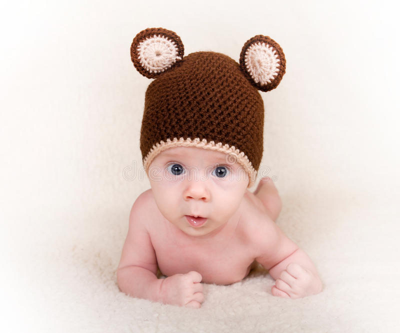 Download Baby with cap stock photo. Image of happiness, infant - 26594664