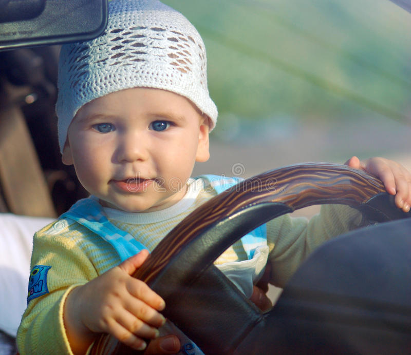 Baby&car royalty free stock photography