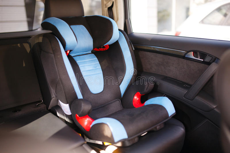 Baby car seat. Luxury baby car seat for safety royalty free stock images