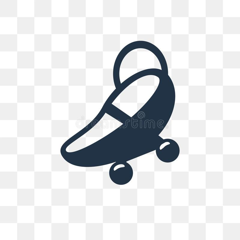 Baby car seat vector icon isolated on transparent background, Ba royalty free illustration