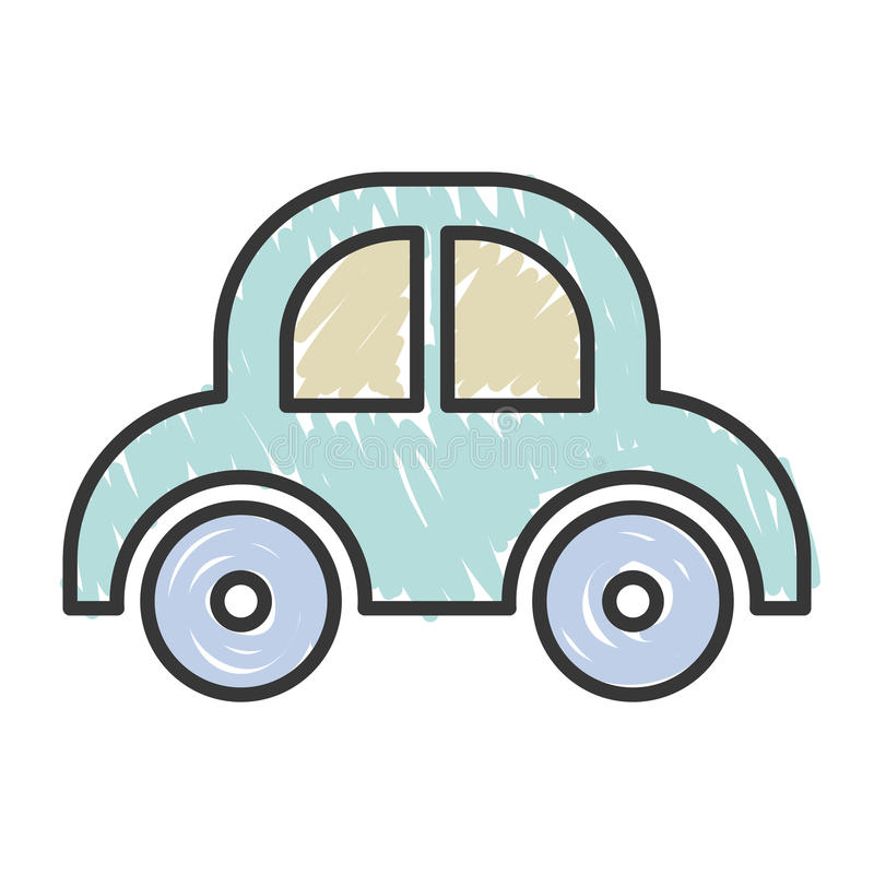 Baby car toy stock vector. Illustration of childhood ...