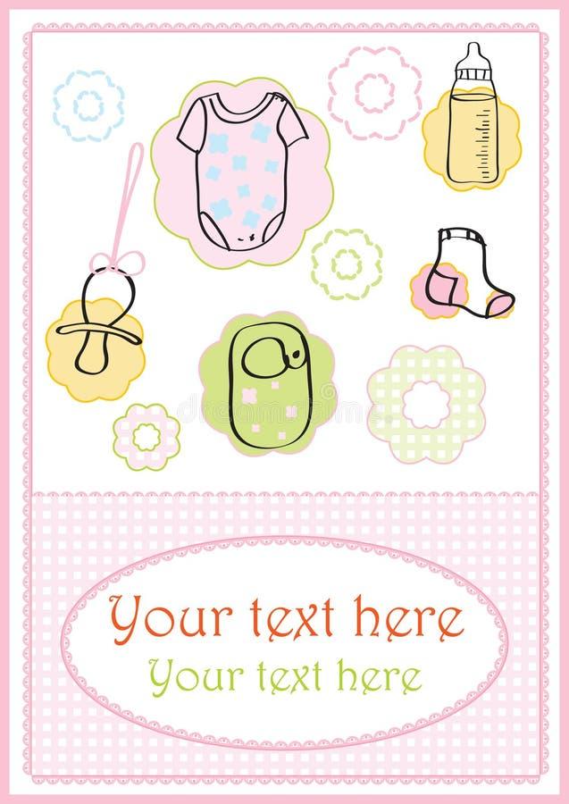 BABY CARD stock illustration
