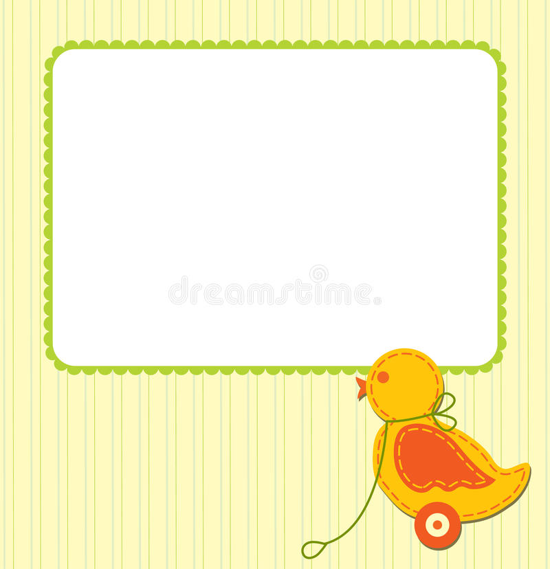 Baby card vector illustration