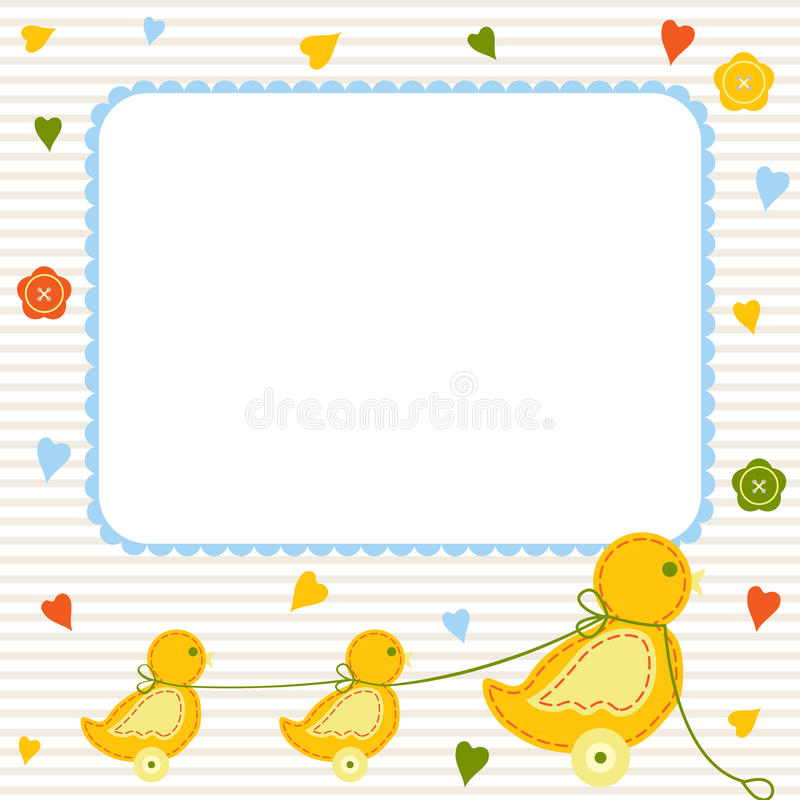 Baby card stock illustration