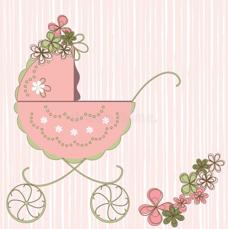 Baby card royalty free illustration
