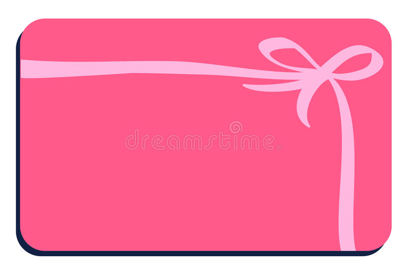 Baby pink card. A illustration of a baby card stock illustration