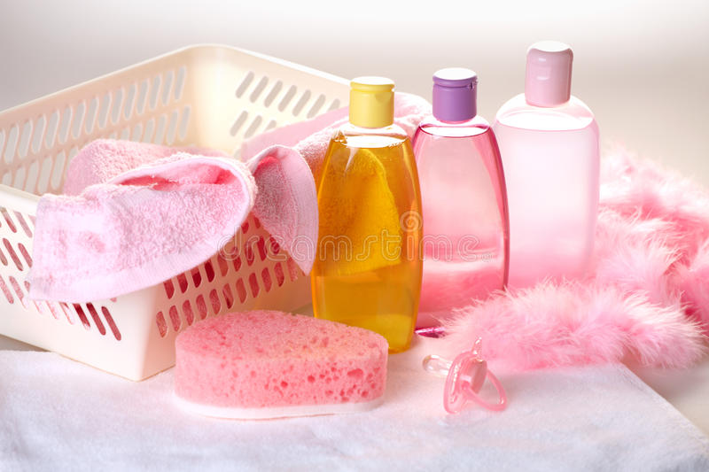 Download Baby care objects stock image. Image of infant, cosmetics - 12719553