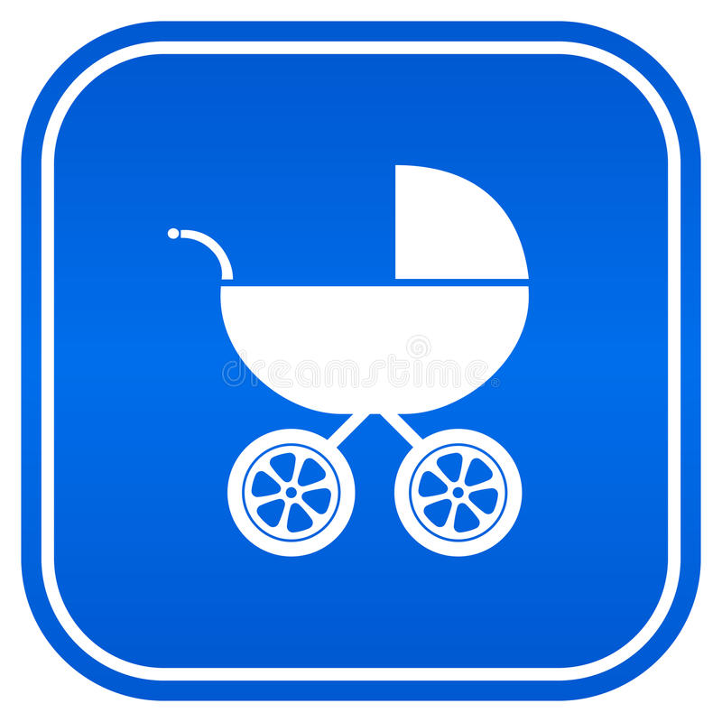 Baby Carriag Sign Stock Photography
