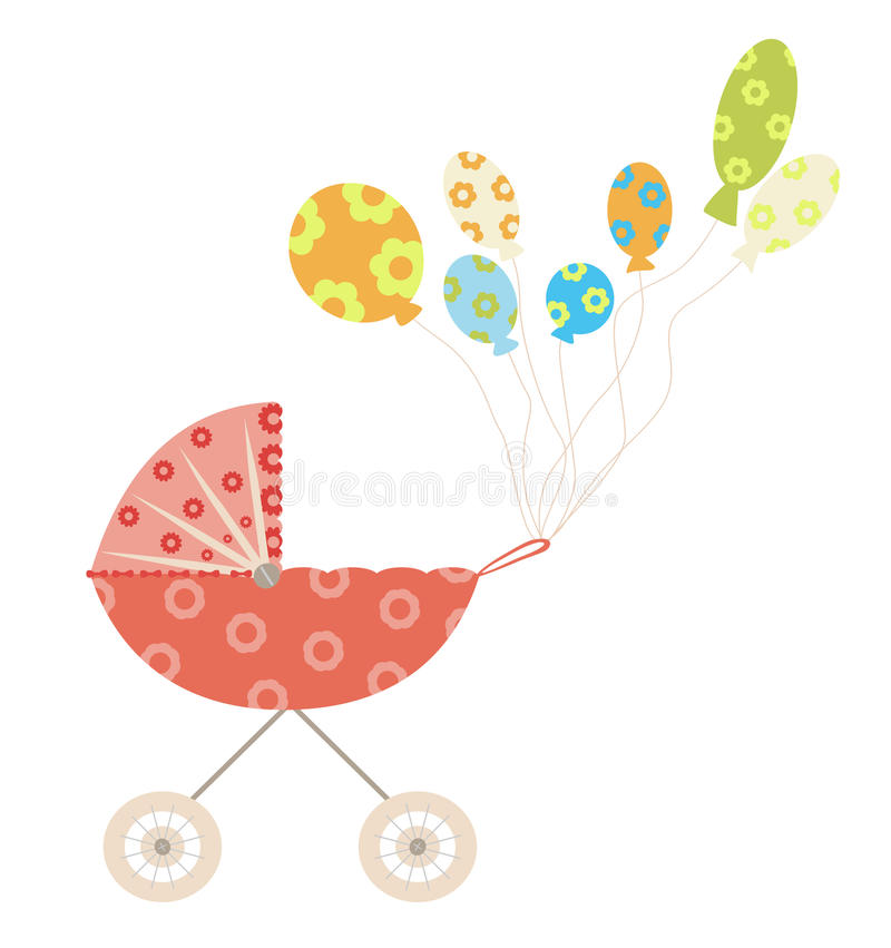 Download Baby carriage stock vector. Illustration of holiday, event - 13759213