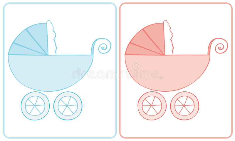 Download Baby Carriage. stock vector. Illustration of celebration - 14213457