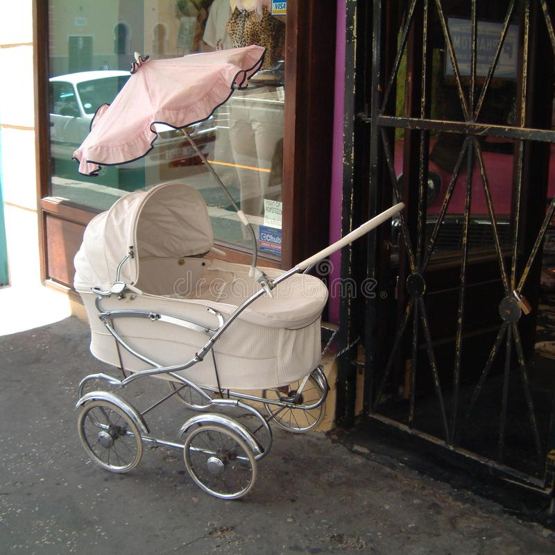 Baby carriage in cape town royalty free stock photos