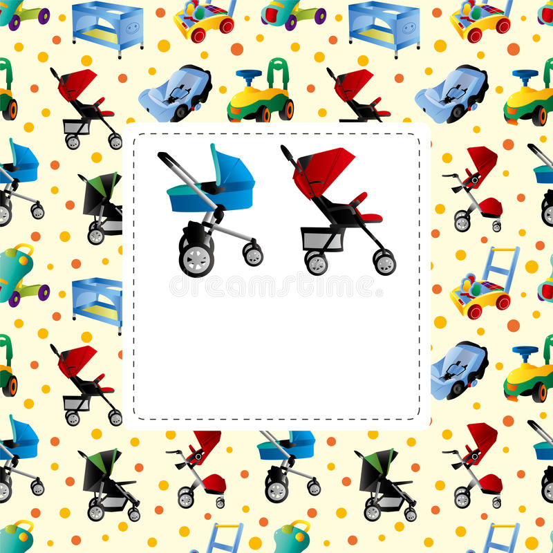 Download Baby carriage card stock vector. Illustration of buggy - 23625843