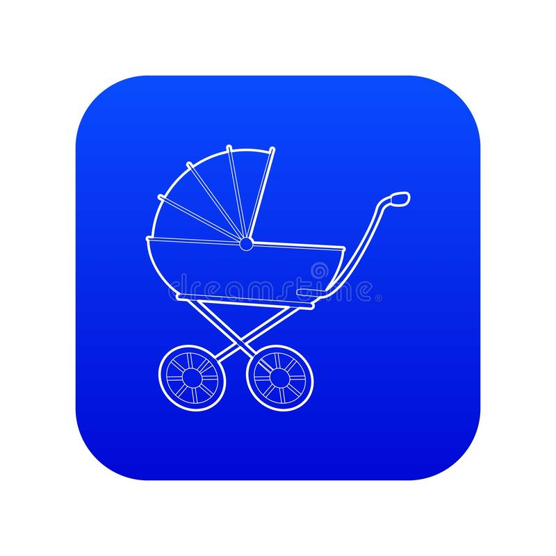 Baby carriage icon blue vector vector illustration
