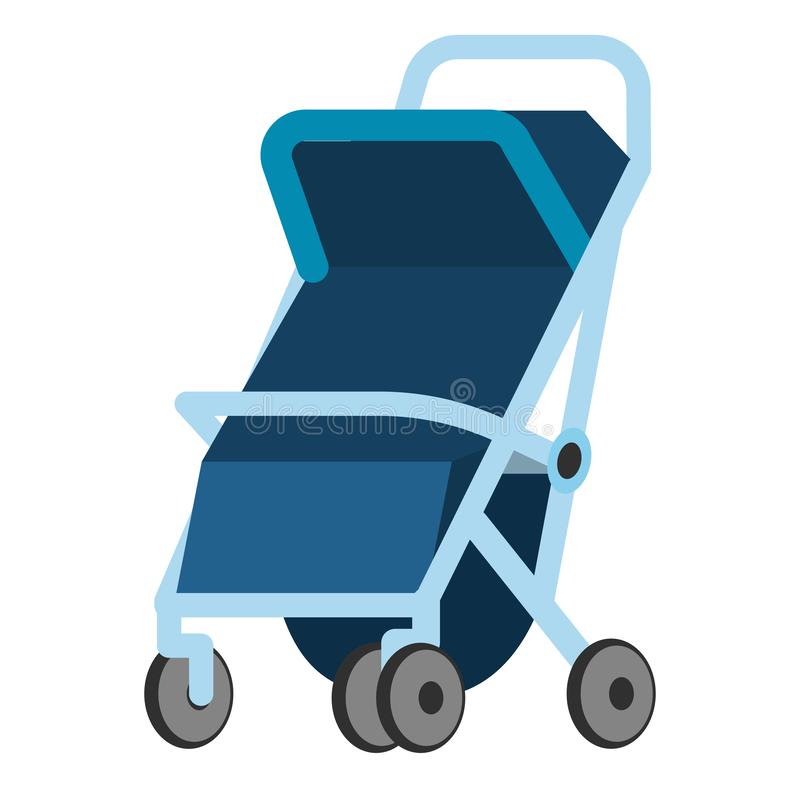 Baby carriage icon royalty free illustration