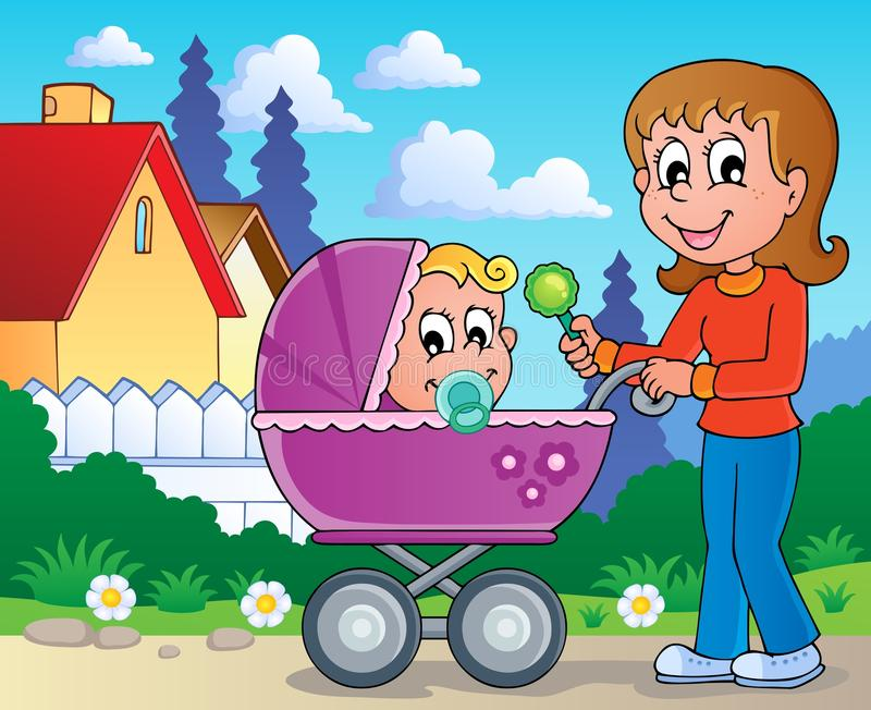 Download Baby Carriage Theme Image 2 Stock Vector - Image: 28949569