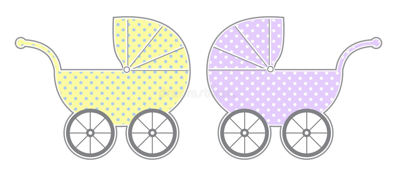 Baby Carriages stock illustration