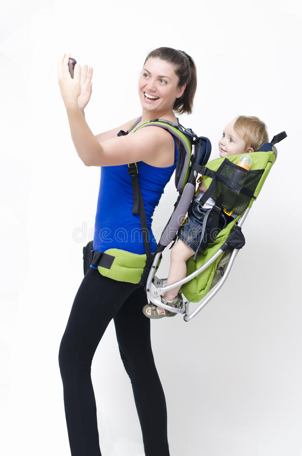 Download Baby carrier stock image. Image of lost, baby, mother - 27972269