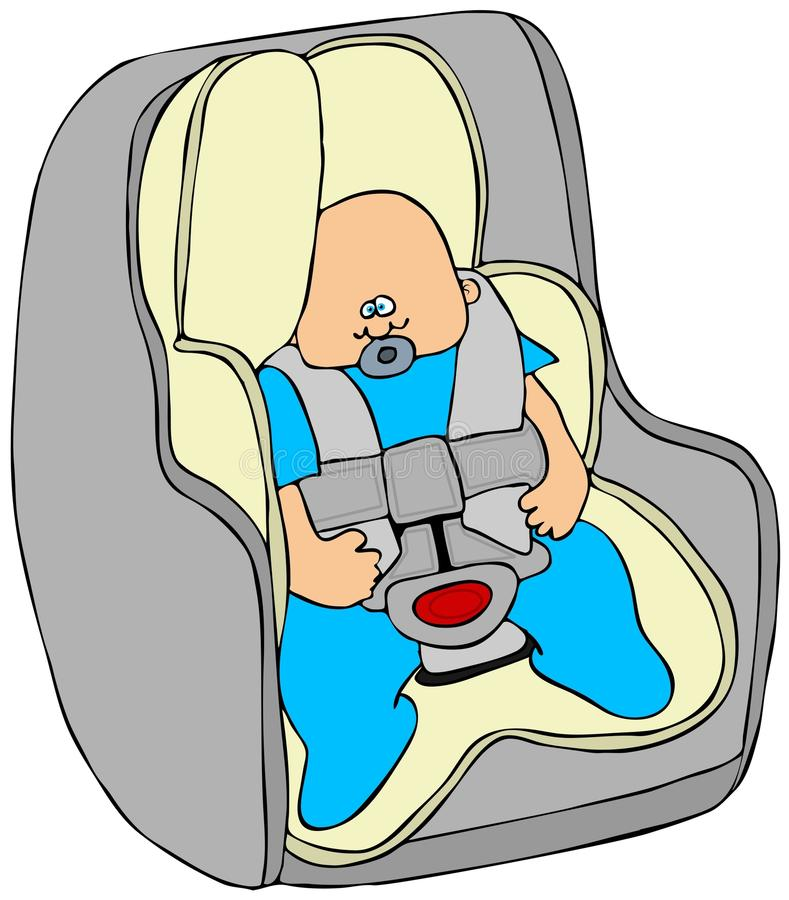 Download Baby in a carseat stock illustration. Illustration of seat - 26721018