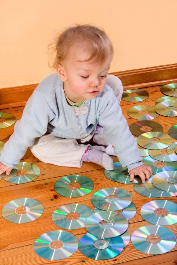 Baby CD royalty free stock photo