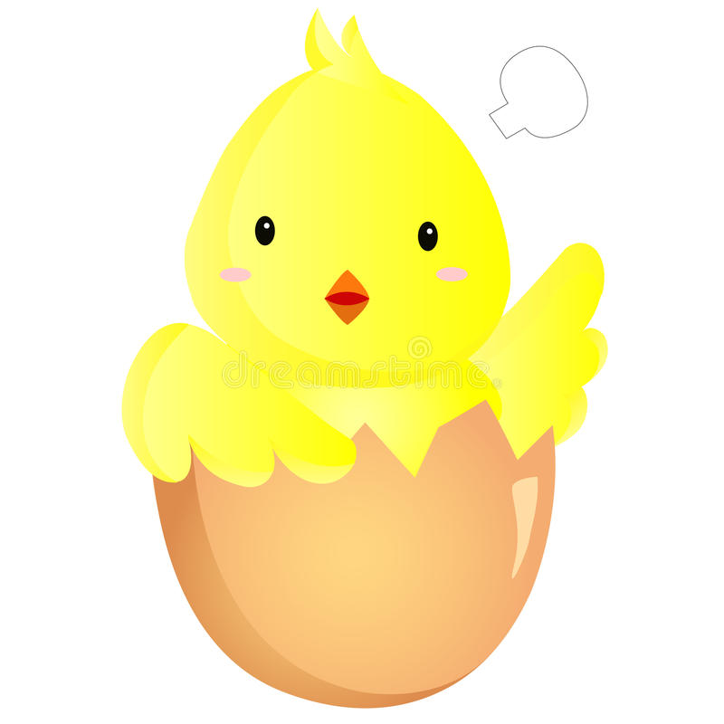 Download Baby Chick stock vector. Image of illustration, animal - 27727122
