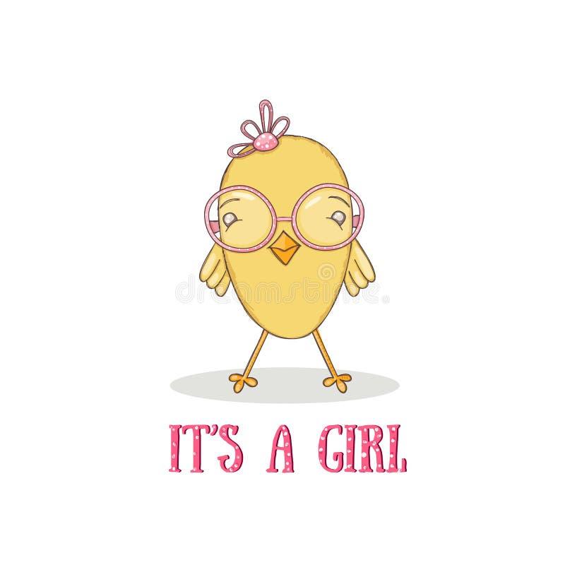 Baby chicken stock illustration