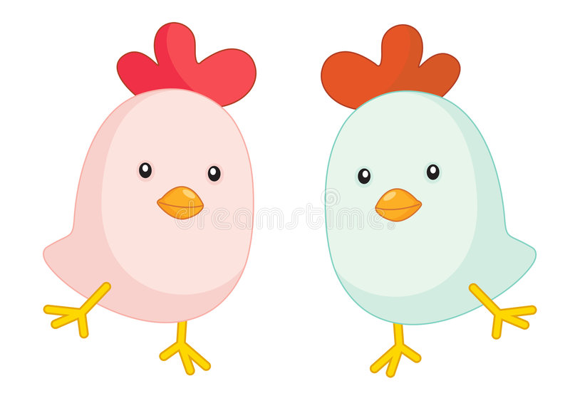 Baby chicks. Illustration of two baby chicks royalty free illustration