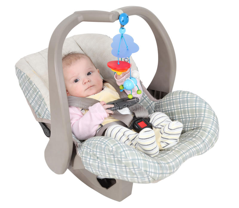 Baby In Child Car Seat Stock Photo