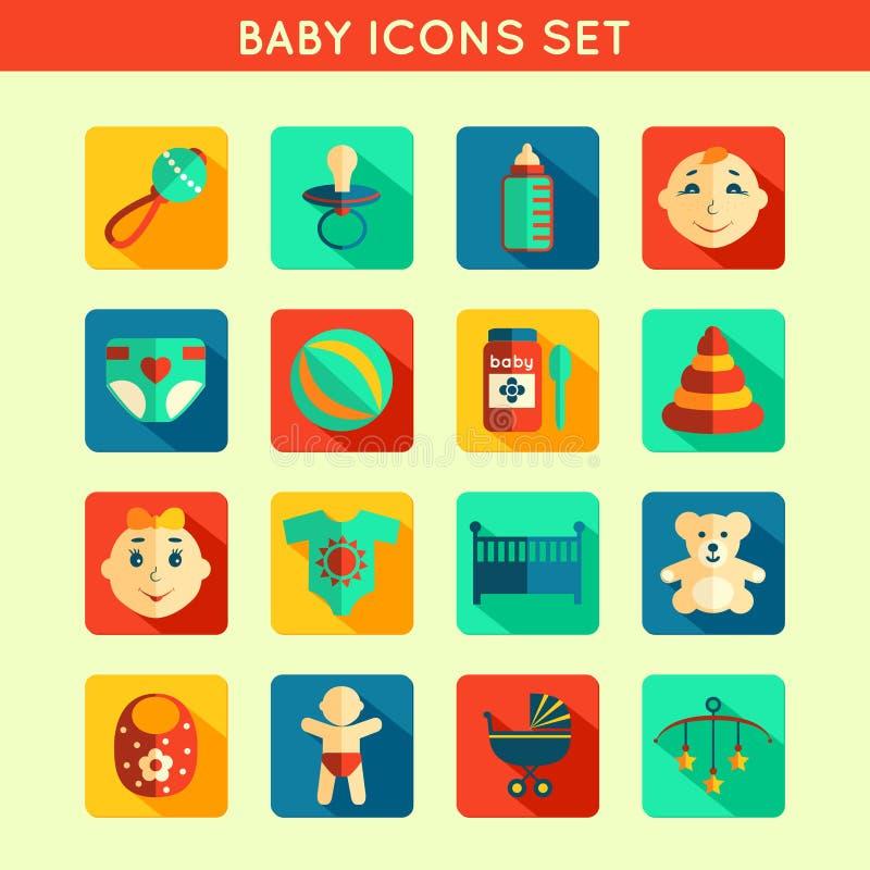 Free Baby Child Icons Set Royalty Free Stock Photos - 39850998