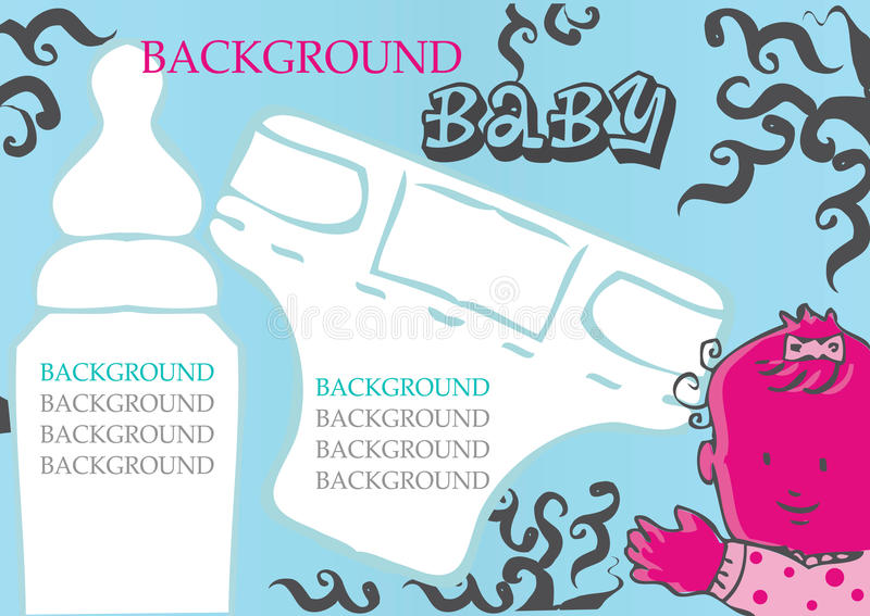 Download Baby, Child Vector Background Stock Illustration - Image: 12552839