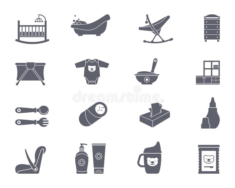 Baby icon set vector illustration