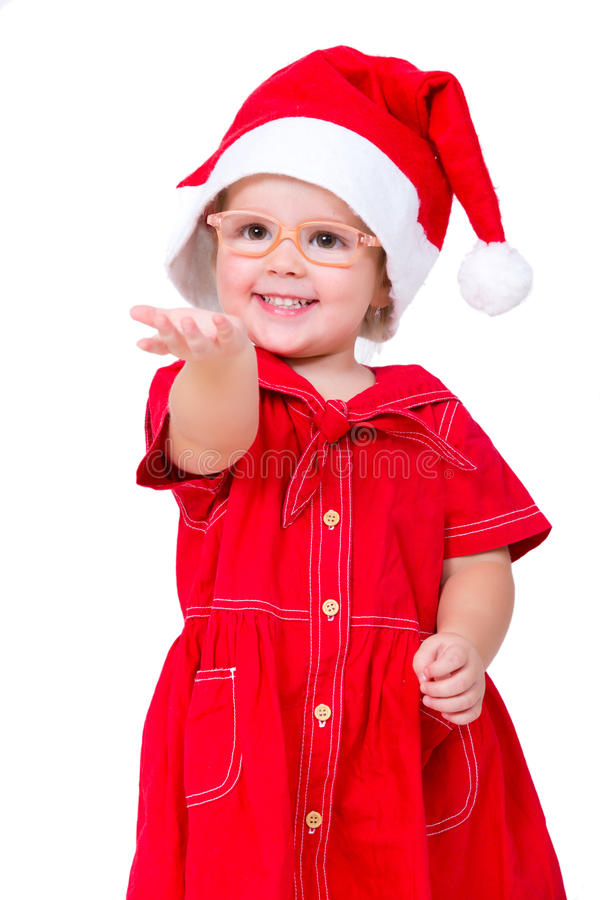 Baby Christmas Santa stock photos