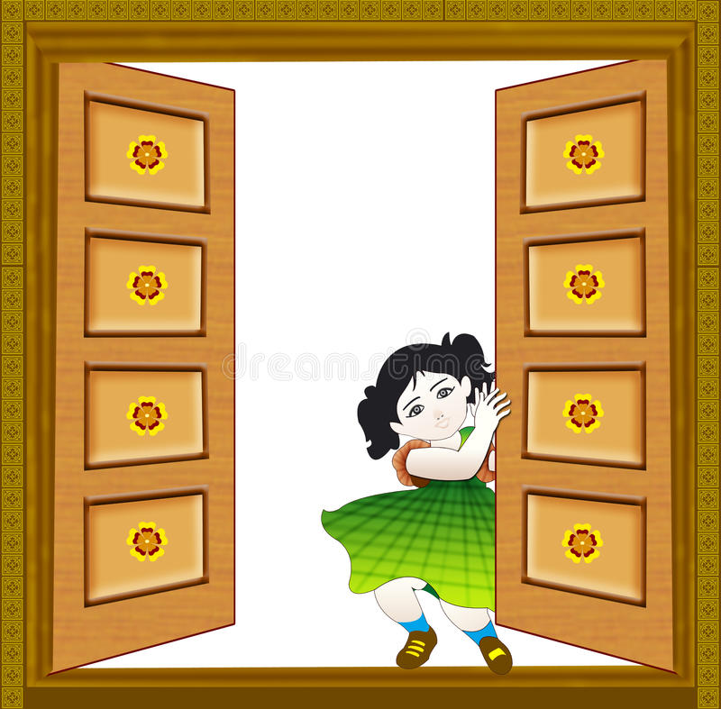 Download Baby close the door stock illustration. Illustration of flywood - 9900120