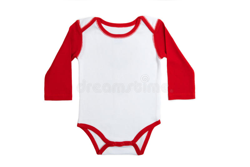 Baby clothes England. Long Sleeves Baby clothes in England color on white background stock image