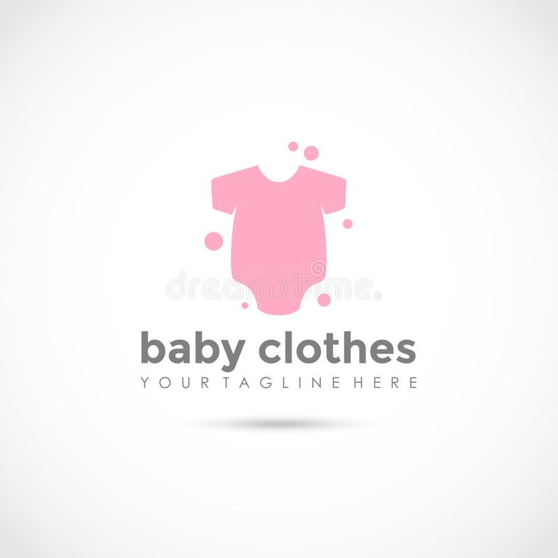 Baby Clothes Logo Design Vector Illustrator Eps 10 Stock