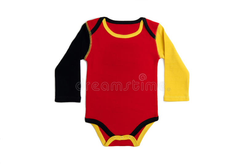 Baby clothes Germany. Long Sleeves Baby clothes in German colors on white background stock photography